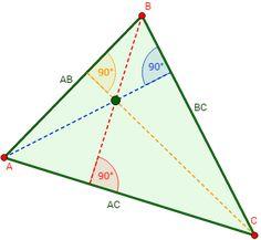 alturas de un triángulo y ortocentro
