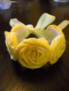 Another fabric rosette tutorial.. Headband