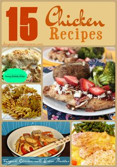 15 easy chicken recipes.  Looking for some new easy chicken recipes? Check out these 15 easy chicken recipes that your family will love. There are many different options. Some are healthy chicken recipes and some not so healthy chicken recipes.