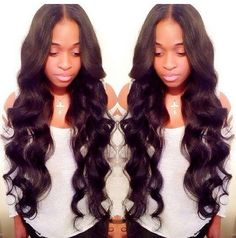Middle-part bodywave......we this look!! Xoxo