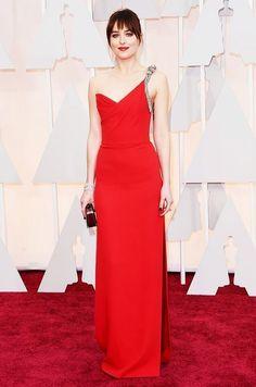 Dakota Johnson Stil, Estilo Dakota Johnson, Best Oscar Dresses, Vestidos Oscar, Saint Laurent, Oscar Fashion, Fashion 2015, Red Carpet Looks, Long Prom Dresses