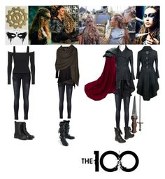The 100 - Lexa by elizabethwoods809 on Polyvore featuring Topshop, Baci & Abbracci, Bamford and Anine Bing