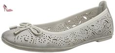 Marco Tozzi 22110, Ballerines femme - Gris (grey Antic 212), 39 EU - Chaussures marco tozzi (*Partner-Link)