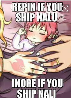 I will never ship NaLi. If I ever do I give permission to all NaLu shippers to kill me.