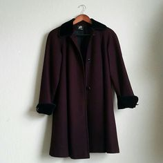 Burgundy Coat Beautiful wine-colored winter coat, like new, first photo reflects true color, selling for my mom :) Macy's Jackets & Coats Pea Coats