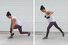 A total body workout you can do in your garage! Lunge Upright Rows