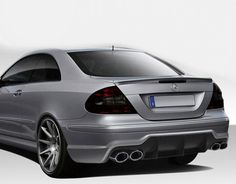 Duraflex 03-09 Mercedes CLK W209 SL65 Look Rear Bumper Cover Kit