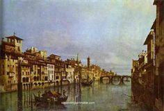 Bernardo Bellotto Arno in Florence - Bernardo Bellotto painting online, painting Authorized official website