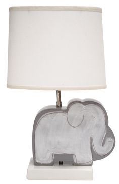 Gray Elephant Character Figure Lamp-From Social in Memphis.  Need for baby boy's room
