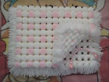Paz Rodriguez Baby Girls Pink Pram Coat and Bonnet Pom Pom Baby, Pom Pom Rug, Loom Knitting, Baby Knitting, Loom Blanket, Loom Craft, Pom Pom Crafts, Dummy Clips, Diy For Girls