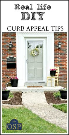 Some of the simplest things can give a HOME curb appeal.  Check out link for before & after!  http://www.onsuttonplace.com/2013/05/12-diy-curb-appeal-tips-on-a-budget