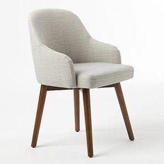 Buy west elm Saddle Dining Chair, Crosshatch Steel Online at johnlewis.com