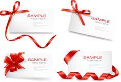 free vector Red ribbon card 01 vector