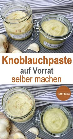Knoblauchpaste für den Vorrat selber machen – nurrosa The Effective Pictures We Offer You About baking ingredients illustration A quality picture can tell you many things. Healthy Food List, Healthy Chicken Recipes, Vegan Recipes, Vegetarian Quotes, Fat Foods, Low Calorie Recipes, Food Lists, Baking Ingredients, Diy Food