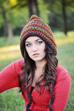 Crochet Hat Womens Pixie Hat Gnome Hat Fall by SimplyMadeByErin, $40.00