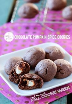 Chocolate Pumpkin Spice Cookies