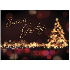 Send your season's greetings in style with a personalized business holiday card.  Personalized greeting cards from On The Ball Promotions are the perfect way to thank customers for their business and wish corporate partners, employees, and business associates a happy holiday season. Choose a holiday sentiment and add your company name, logo, and signatures for a warm and friendly business Christmas card.  This urban-inspired Christmas card design evokes Christmastime in the city, with the wa