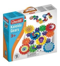 Quercetti Kaleido Gears  55 Piece Building Set with 3 Different Sized Gears  Turn the Crank and Create a Chain Reaction  Ages 3  Made in Italy -- You can find out more details at the link of the image.