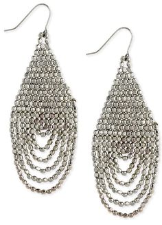 Silver seed beaded earrings by DivinityJewels on Etsy, $30.00