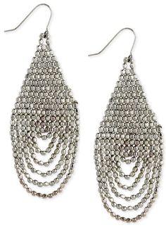 Silver seed beaded earrings by DivinityJewels on Etsy, $30.00
