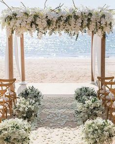 wedding ceremony decorations with white orchids and cloth on the beach iamflower. wedding ceremony decorations with white orchids and cloth on the b. Elegant Wedding, Perfect Wedding, Dream Wedding, Wedding Beach, Trendy Wedding, Spring Wedding, Romantic Weddings, Rustic Wedding, Romantic Beach