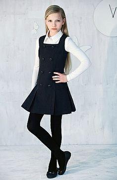 New ideas fashion kids school outfit School Uniform Fashion, School Uniform Girls, Style École, Little Girl Dresses, Girls Dresses, Kids Uniforms, School Uniforms, Look Girl, School Dresses