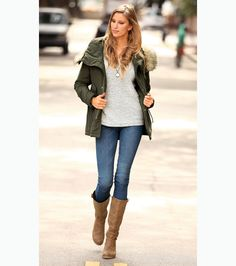 Chaqueta verde militar mujer outfit