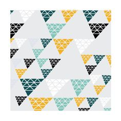 "Triangles by Christine Llewellyn for Minted -- she has a selection of very ""quilty"" art."