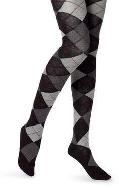 if I had argyle sweater tights, I would be sooooo happy....