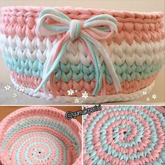"646 Beğenme, 7 Yorum - Instagram'da Filozof'un Atölyesi ☕️✂️ (@yumakperisi): ""Sarmal taban   @yumakperisi #yumakperisi #penyesepet #penyeipsepet #penyeip #örgüsepet…"" Diy Crochet Basket, Crochet Bowl, Love Crochet, Crochet Yarn, Crochet Christmas Gifts, Crochet Gifts, Knitting Patterns, Crochet Patterns, Cotton Cord"