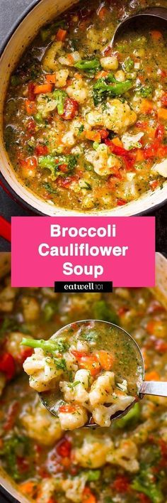 Broccoli Cauliflower Soup — A super nutritious soup ready in 15 minutes. Paleo… Broccoli Cauliflower Soup — A super nutritious soup ready in 15 minutes. Vegetarian Recipes, Cooking Recipes, Healthy Recipes, Salad Recipes, Orzo Recipes, Healthy Soups, Vegan Soups, Bean Recipes, Recipes Dinner