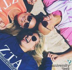 summer / sand / shades / sun / sisters | Zeta Tau Alpha | Made by University Tees | www.universitytee...