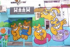Street Art made in Marseille Mr Chat - Purple Jumble