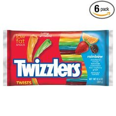 TWIZZLERS Twists (Rainbow 12.4-Ounce Bags Pack of 6) as low as $7.65 #LavaHot http://www.lavahotdeals.com/us/cheap/twizzlers-twists-rainbow-12-4-ounce-bags-pack/115087