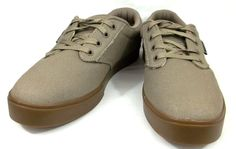 Etnies Skate Shoes Solid Beige Canvas Athletic Eco Sneakers Mens Size 8.5 M #etnies #SkateShoes