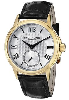Price:$331.33 #watches Stuhrling Original 384.33352, This Stuhrling Prestige watch screams style and sophistication. The watch features applied Roman numerals and a date window at the 12 o'clock position. A small seconds sub-dial features at the 6 o'clock position.
