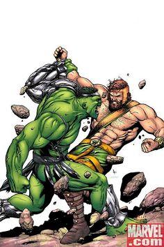 Hulk vs Hercules by Gary Frank