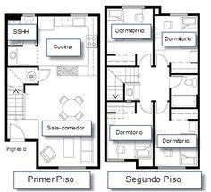 Plano de casa terreno pequeño