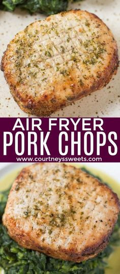 Fryer Pork Chops Air Fryer Pork Chops that are so juicy you'll think they came right off the grill! The pork chop seasoning is so good you can use it on any cut of meat.Air Fryer Pork Chops that are so juicy you'll think they came right off the grill! Easy Pork Chop Recipes, Pork Recipes, Crockpot Recipes, Cooking Recipes, Healthy Recipes, Snacks Recipes, Chicken Recipes, Fish Recipes, Vegetarian Recipes