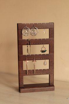 Jewelry organizer  Earring holder display Storage  Rack