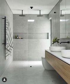 Shower Niche, Bathroom Niche, Bathroom Renos, Laundry In Bathroom, Bathroom Layout, Bathroom Renovations, Bathroom Ideas, Window In Shower, Bathroom Goals