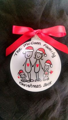 Custom personalized family ornament (Add pets, names and up to 10 figures) The Family Christmas Ornament- personalized-hand painted keepsake is a great way to share family unity with this personalized family gift Ornament Crafts, Diy Christmas Ornaments, How To Make Ornaments, Christmas Projects, Holiday Crafts, Christmas Crafts, Christmas Bulbs, Paris Christmas, Ornaments Ideas