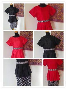 Peplum Dress in Batik