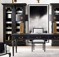 Rh S French Partner 39 Desk Inspired By A 19th Century Antique