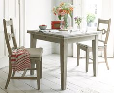 The Homer Flip Top kitchen table with it's clever extendable top is ideal for small spaces. Just turn, flip and slide to cater for all those extra guests!