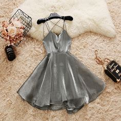 2020 beautiful sleeveless v-neck backless tulle homecoming dress,spaghetti-straps racer-back school event dress · Sweet Baby · Online Store Powered by Storenvy Elegant Ball Gowns, Elegant Dresses, Pretty Dresses, Awesome Dresses, Elegant Homecoming Dresses, Casual Dresses, Elegant Gown, Tight Dresses, Dance Outfits