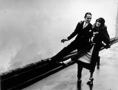 Fred Astaire dancing on the roof of the Savoy Hotel in London with his sister and dancing partner Adele