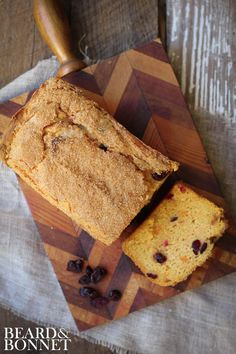 Sweet Potato Cranberry Quick Bread (Gluten Free) - Beard + Bonnet