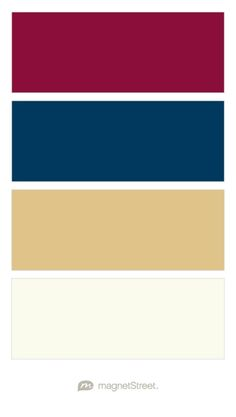 Burgundy, Navy, Gold, and Ivory Wedding Color Palette - custom color palette created at MagnetStreet.com