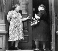 A photo from 1940 by Helen Levitt Vintage fat women.